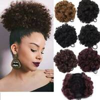 Thick Drawstring Afro Bun Puff Kinky Curly Pony Tail Updo Hair Extensions 65g US