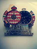 Rally Monte carlo Classic Car universal Grill badge emblem Enamel- FITS ALL CARS