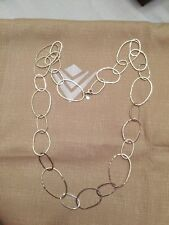 "Silpada Sterling Silver Link 38"" Long ""Bubble Up"" Necklace N2148 $209 POPULAR"