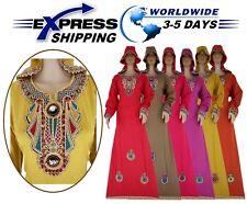 Islamic Egypt Cotton Abaya Isdal Hood Jilbab Dress Kaftan Muslim Galabya Hijab