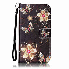 Patterned Mobile Phone Wallet Cases with Strap