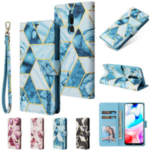 Case For XiaoMi Mi 10i RedMi 7A 8A 9A 9C Note 8T 9Pro Marble Leather Wallet Case