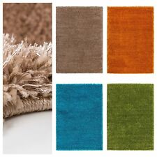 Einfarbige Aktuelles-Design Wohnraum-Teppiche im Hochflor/Shaggy/Flokati-Stil für Gästezimmer
