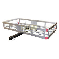 "Aluminum 500 LB Mount Cargo Rack Carrier 2"" Hitch Receiver Basket Truck Luggage"