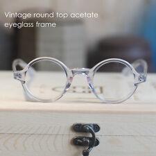 Round eyeglass Retro Vintage Depp  frame1960's Round optical eyeglasses CRYSTAL