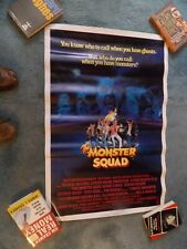 """MONSTER SQUAD(1987)TOMMY NOONAN ORIGINAL 27""""BY41"""" ROLLED UNUSED!!!"""