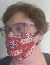 San Francisco 49ers face mask - All Sizes    Handmade