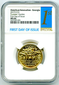 2019 D $1 GEORGIA NGC MS66 AMERICAN INNOVATION DOLLAR FIRST DAY OF ISSUE 1ST