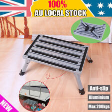 Foldable Aluminium Step Stool Loads Caravan Camper 200kg Camping Portable Ladder