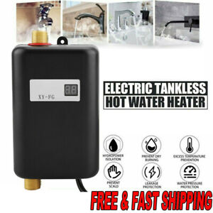 220V Mini Instant Electric Tankless Hot Water Heater Shower Kitchen UK