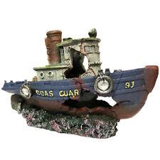 Slocme Aquarium Large Shipwreck Decorations - Fish Tank Lifelike Ship Decor