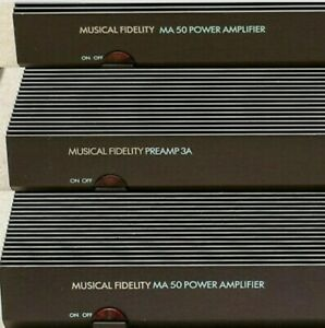 Musical Fidelity Preamp 3A / 2 X MA50 Mono Power Amplifiers - VGC