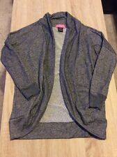 SUGAR HIGH Dark Grey Open Front Shrug Sweater *S* New Without Tag