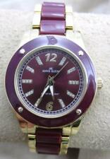 Beautiful Anne Klein Maroon Red Wrist Watch