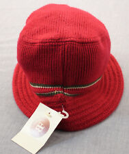 FB Unisex Red Striped Brim Bucket Hat  NEW  NWT  1 Size Fits All