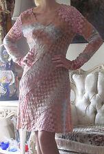 New MISSONI Runway Knitted,Zig/Zag Multicoloured,Stretchy dress It 42,US 6-8/M-L