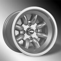 Ford Escort rally wheels x 4 in Silver 13x9 ET-12 / Minilight Design (NEW)