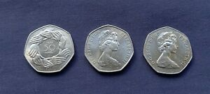 1973 EEC / 1976 / 1980 UNCIRCULATED LARGE 50ps