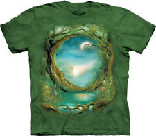 Moontree Fantasy Art Hand Dyed Green Adult T-Shirt, New Unworn