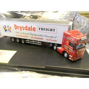 ** Oxford Diecast SCA04FR Scania R Series Topline Fridge Drysdale Freight 1:76