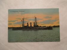 Battleship Louisiana Postcard US Battleship Ship Military