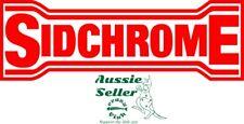 Sidchrome   vinyl  cut decal  270 x 90 mm  BUY 2 & Get 3