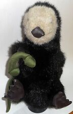 """SEA OTTER KELP Hand Puppet Movable Hands Head Brown Folkmanis 13"""" Tall"""