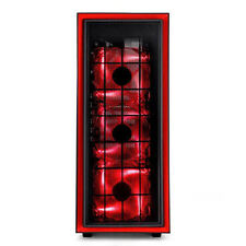 Silverstone RL06BR-PRO (Red Trim + Red LED Fan) Redline Mid ATX Tower Case