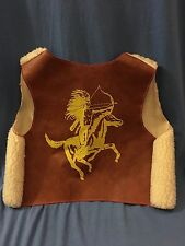 Vintage WESTERN VEST Native American Cowboy Sheriff Hopalong Cassidy BuffaloBill