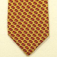 "ROBERT TALBOTT ""crabs"" silk tie made in the USA width 4.00"""