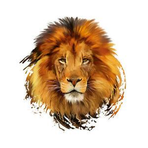 1pc Lion Patches Iron On Patches For Clothes Washable DIY Decoration VEY wy