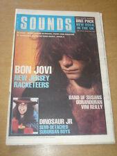 SOUNDS 1989 APRIL 29 SONIC YOUTH BON JOVBI DINOSAUR JR DURAN DURAN RACKETEERS