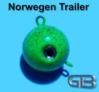 Norwegen Trailer, 55g 70g 90g 115g 140g Sea Trailer, Kugelblei mit Öse, Jigkopf