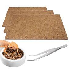 3pcs Reptile Carpet Natural Coconut Fiber Cage Lizard Mat,Bearded Dragon Dish.