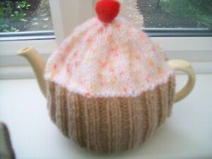 Hand knitted  Cupcake tea cosy medium teapot  3-4 cup teapot