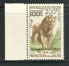 AFRICAN FAUNA, LIONS, INDEPENDENCE ON NIGER 1960 Scott 103, MNH