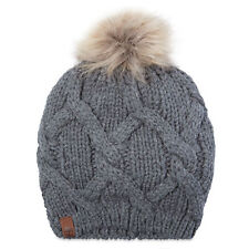 Timberland Adults Unisex  Faux Fur Pom Beanie Hat
