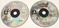 PS1 Spyro The Dragon & Riptos Rage Game Discs Only Tested Working