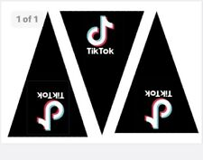Bunting Template Make Your Own Tik Tok Birthday Party Bunting