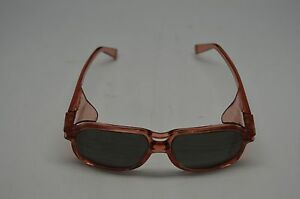 American Optical Safety Glasses 8754 Lens 54 Bridge 15 RED GRY RED SLD Steampunk