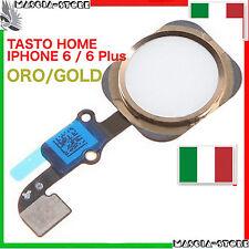 TASTO CENTRALE HOME Pulsante COMPLETO  FLEX IMPRONTA IPHONE 6 /  6 PLUS Gold Oro