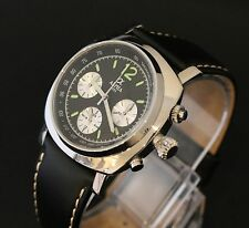 Alpha Chronograph Watch Seagull Movement Black Dial Model Number 5421-SG2903