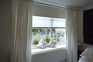 """Rod Top White Pure Silk Dupioni Curtains, 100"""" W X 108"""" L with Blackout Lining"""
