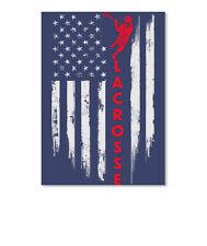 Lacrosse Flag 2 Sticker - Portrait