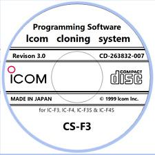 Icom CS-F3 Rev. 3.0 Cloning (Program) Software for the IC-F3/IC-F4/IC-F3S/IC-F4S