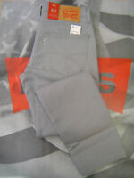 LEVI'S 511 MEN'S SLIM FIT ZIP FLY STRETCH PIECE DYE JEANS GREY GRIFFIN
