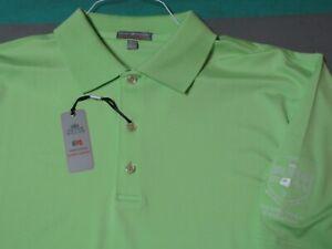 NWT Peter Millar Palm Green Summer Comfort Golf Polo Shirt Men's XL