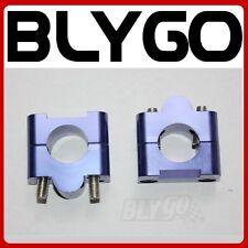 "CNC Blue 7/8"" to 11/8"" Handle Bar Clamp Riser PIT PRO TRAIL DIRT QUAD BIKE ATV"