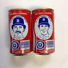 Vintage Coca Cola 1984 Detroit Tigers Cans Alan Trammell Willie Hernandez Wow!|