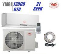 YMGI 12000 BTU 1 Ton 21 SEER DUCTLESS MINI SPLIT AIR CONDITIONER HEAT PUMP OIP